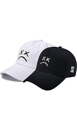 Home Fashion DIY Herren Caps - Sad Jungen Verstellbare Mütze Weinen Gesicht Stickerei Baseball Cap Dad Hat Hip Hop Cap - Weiß - Einheitsgröße