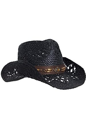 Vamuss Damen Natürliche Straw Cowboy-Hut für Frauen, Kunstleder Trim