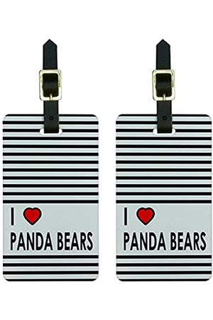 Graphics and More Graphics & More Gepäckanhänger I Love Panda Bears mit Pandabär-Motiv (Weiß) - Luggage.Tags.0324