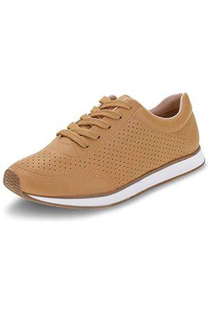 VIA MARTE Damen Schuhe - Damen-Sneaker, atmungsaktiv, gepolstert, karamellbraun, (caramel)