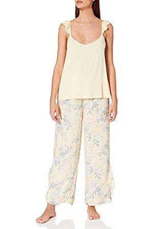 Women secret Damen Schlafanzüge - Damen Straps Long Pant Pyjama Zweiteiliger Schlafanzug