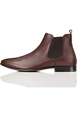 FIND Albany Suede Chelsea Boots, (Dark Burgundy)