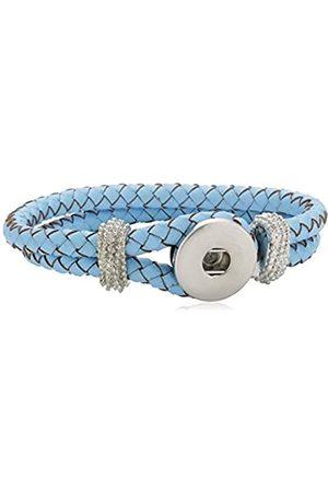 Pasionista Armbänder - Unisex Charm Armband Silber Leder Chunks 19 CM