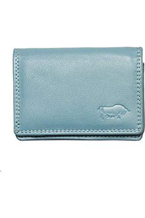 ARRIGO BELLO Geldbörse Klein Damen Leder - Minibörse Leder Brieftasche - Geldbeutel Frauen Small - Portmonee - Kleines Portemonnaie -2.5x7.5x10 cm - Hell
