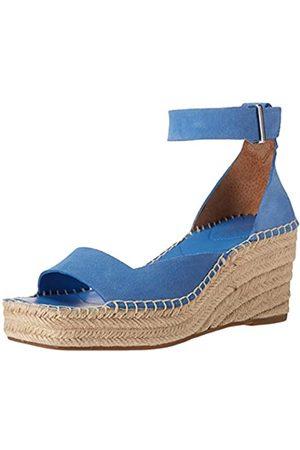 Franco Sarto Women's Camera Wedge Sandal, Cornflower Blue