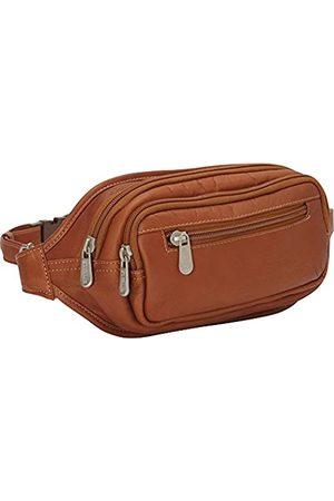 Piel Reisetaschen - Piel Leder Multi-Zip Oval Taille Tasche - 3086