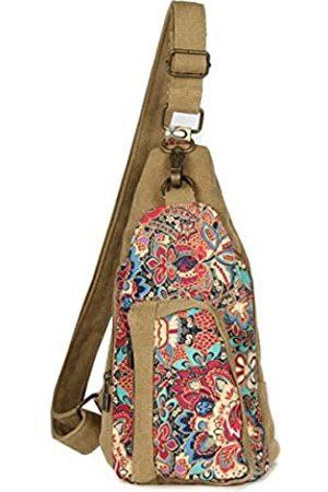 Black Butterfly Outdoor Brusttasche Crossbody Tasche für Frauen Mädchen Reise Daypack - B1037-D