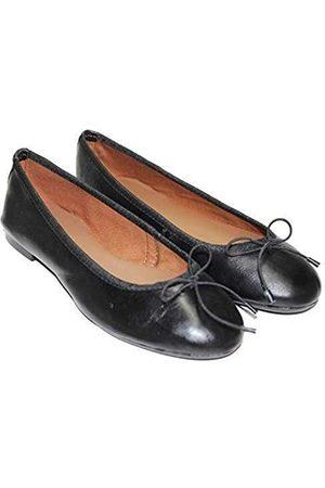 TWISTER Damen Flache Schuhe aus 100% Echtleder Ballerinas Ballerinas Flache Schuhe Stilvolle & Bequeme Loafer Flache Schuhe, (Schwarzes Napa)