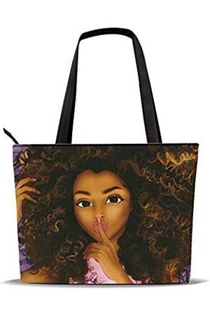 AZPSRT Tragetasche für Frauen, afrikanischer Amerikanischer Schulter-Handtasche, großes Fassungsvermögen, passend für 39,1 cm/45 cm, ( -6)