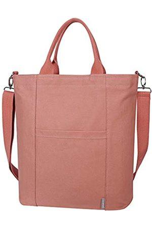 Iswee Große Canvas-Schultertasche für Frauen, legere Handtaschen, Arbeitstasche, Einkaufstasche, Reisetasche