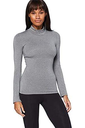 IRIS & LILLY Damen Skiunterwäsche - Amazon-Marke: Damen dünnes, wärmendes Thermounterwäsche Oberteil mit Rollkragen, S