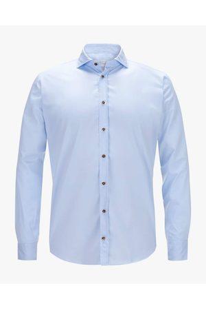 Dorani Trachtenhemd für Herren von in Hellblau. Traditionell und modisch zugleich begeistert das schmale Modell aus hochwertiger Baumwolle. Elemente.... Mehr Details bei Lodenfrey.com