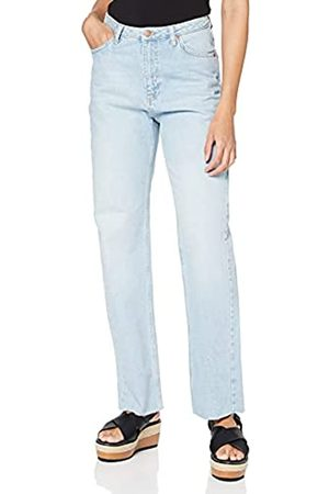 NA-KD Damen Straight High Waist Raw Hem Jeans