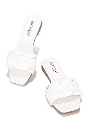 Cape Robbin Deja Sandalen Slides für Damen, gewebte Damenpantoletten, Schlupfschuhe