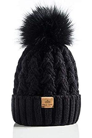 PAGE ONE Damen Hüte - Damen Wintermütze, gerippt, mit Zopfmuster, weich