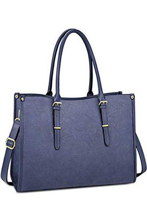 NUBILY Damen Handtaschen - Laptoptasche für Damen, 39,6 cm (15,6 Zoll), wasserdicht, leicht, Leder, für professionelle Arbeit, Arbeit, Aktentasche, große Computertasche, Schultertasche, Handtasche