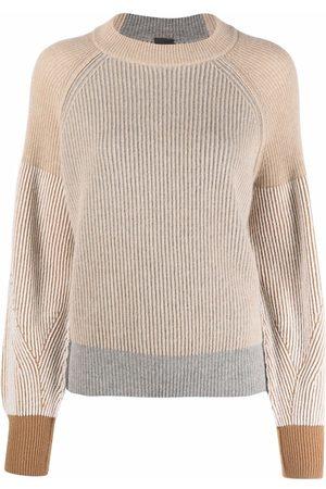 LORENA ANTONIAZZI Damen Strickpullover - Pullover in Colour-Block-Optik