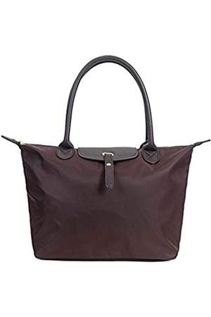 Pure Beauty Damen Strandtaschen - Wasserfeste Nylon-Tragetasche, Schultertasche, Strandtasche, wasserdichter Griff, Handtasche, Laptop-Tasche, Braun (kaffeebraun)