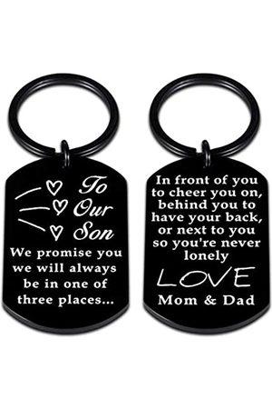 SYGUNAR Schlüsselanhänger Geschenk für unsere Sohn, Söhne Kinder, Kind von Papa und Mutter, Abschluss, Geburtstag, Weihnachten, Valentinstag, inspirierende Ermutigung, süßes Geschenk für Teenager, Jungen, Teenager, Stiefsohn