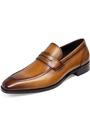 GIFENNSE Herren Halbschuhe - Herren Leder Loafers Schuh-Kleid-Schuhe, schwarze Schuhe, braune Schuhe