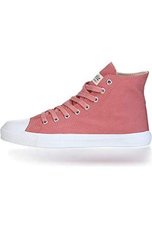 ETHLETIC Damen Schuhe - Unisex Sneaker Hi Fair Trainer White Cap Rose dust   just White 37 Fair   Vegan   Nachhaltig