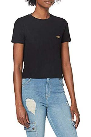 Gianni Kavanagh Damen Black Core Short Sleeve Ribbed Tee Unterhemd