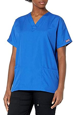Cherokee Damen T-Shirts, Polos & Longsleeves - Damen Peeling-Shirt mit V-Ausschnitt - Blau - Groß