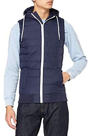 Urban classics Small Bubble Hooded Vest Weste Navy