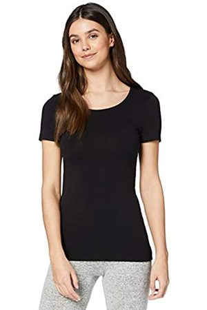 IRIS & LILLY Amazon-Marke: Damen Dünnes Thermo-T-Shirt (Black), S