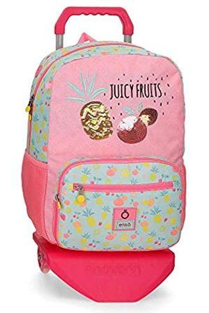 "Enso Juicy Fruits Laptop-Rucksack mit Trolley für die Schule Mehrfarbig 32x42x14 cms Polyester 14"" 18.82L"