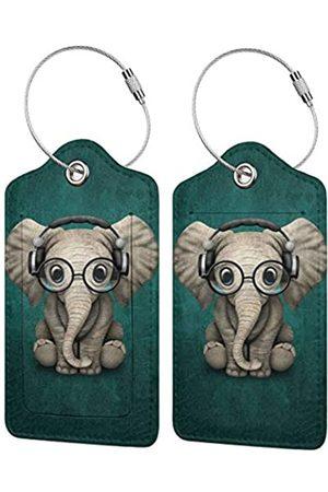Affany Reisetaschen - Gepäckanhänger mit Sichtschutzhülle, PU-Leder, 2 Stück, Visitenkartenhalter für Gepäck, Tasche, Name, Adressschild, Reisekennzeichnung