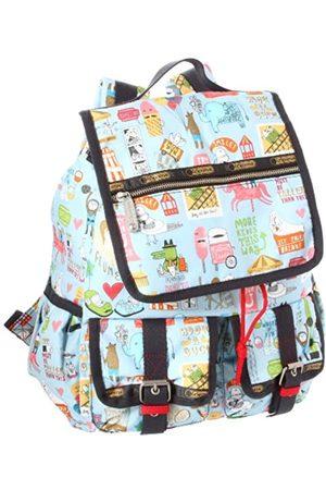 LeSportsac Damen Rucksäcke - Rucksack mit zwei Taschen, Blau (Messegelände)
