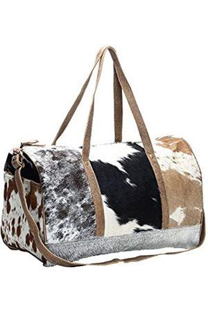 Myra Bag S-1159 Reisetasche aus Rindsleder und Leder