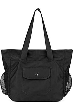 MORHUA Wasserdichte Strandtasche für Damen, groß, leicht, Fitnessstudio, Reisen, Schultertasche, Wochenend-Handgepäck für Sport, (Schwarzes Mesh)