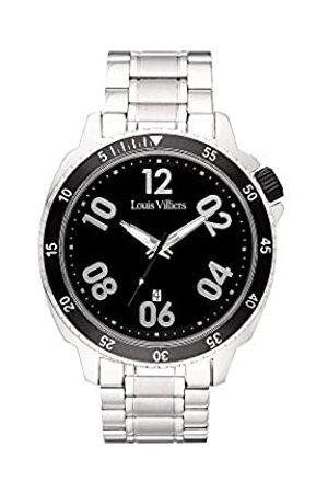 Louis Villiers Herren Uhren - LouisVilliersUnisexAnalogQuarzUhrmitEdelstahlArmbandLV1054