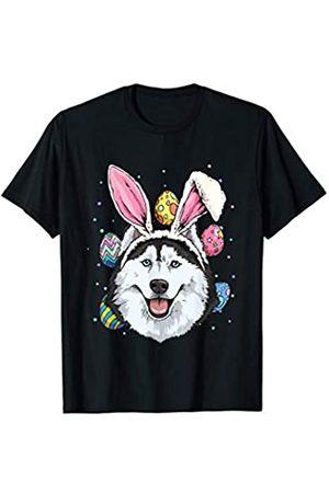 Wowsome! Easter Bunny Siberian Husky Dog Kids Men Women Gift T-Shirt