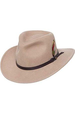 Silver Canyon Boot and Clothing Company Outback Wolle Cowboy-Hut   Montana Knautschbar West Filz für Herren Mittel
