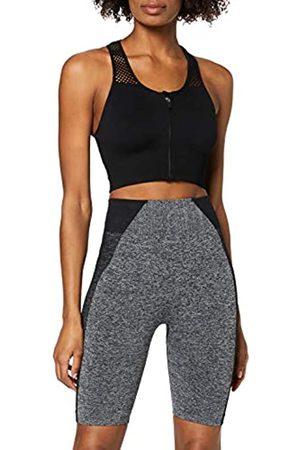 AURIQUE Damen Sport BHs - Amazon-Marke: Damen Sportshorts (Black)