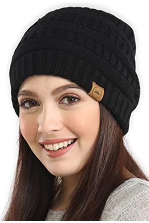 Tough Headwear Damen Beanie Wintermütze – warme grobe Zopfstrickmützen – weich dehnbar dick gestrickte Mütze für kaltes Wetter, Damen