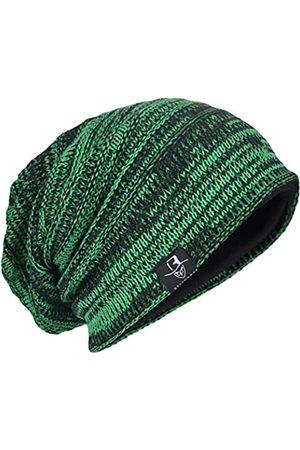 HISSHE Herren Hüte - Herren Oversize Skull Slouch Beanie Large Skullcap Knit Hat - - Einheitsgröße