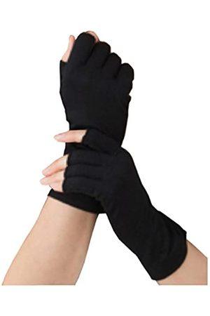 est Halbfinger-Handschuhe aus 100 % Maulbeerseide | Sonnen- und Kälteschutz | gut für alle Jahreszeiten - - Medium