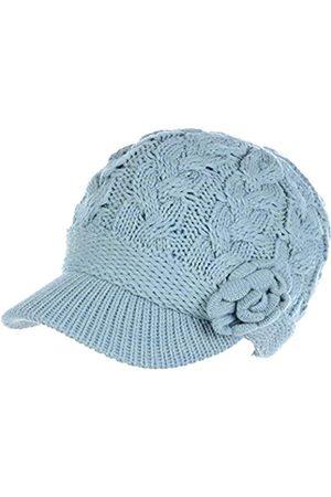 Be Your Own Style Damen Winter Elegante Zopfblumen-Strickmütze Newsboy Cabbie Cap Baskenmütze mit Visier