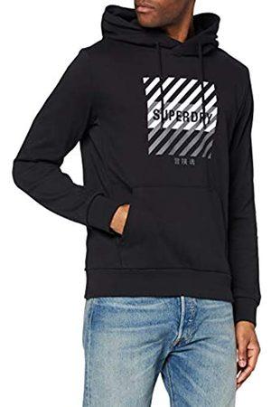 Superdry Herren Shirts - Herren Training Core Sport Hood Sweatshirt Gr. L