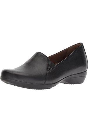 Dansko Women's Farah Loafer Flat, Black Milled Nappa