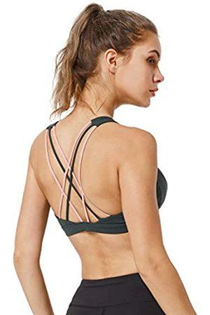 Yvette Ries Sport-BH, für Fitness, Yoga, Fitness, Fitness, mit dünnen Trägern