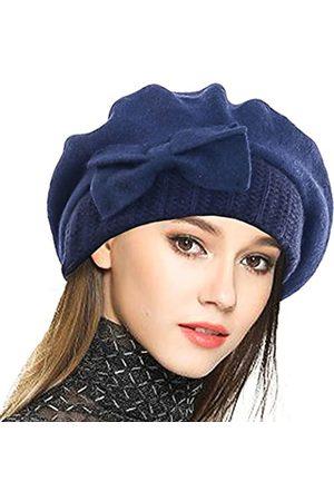 VECRY Damen 100% Wolle Bucket Hat Filz Cloche Barett Kleid Winter Beanie Hüte - - Medium