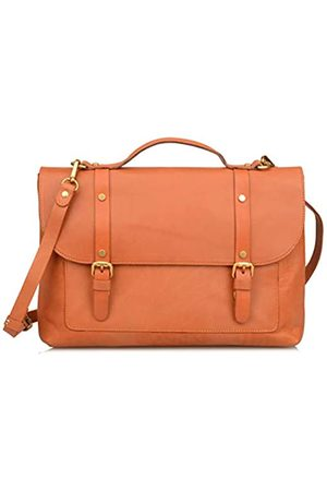 Ainifeel Damen Laptop- & Aktentaschen - Damen Aktentasche aus echtem Leder für Business 13 Zoll Laptoptaschen, Braun (Hellbraun)