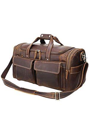 POLARE ORIGINAL Herren Reisetaschen - Polare Reisetasche, 57,9 cm, Retro-Stil, dickes Vollnarbenleder, für Fitnessstudio, Wochenendausflüge