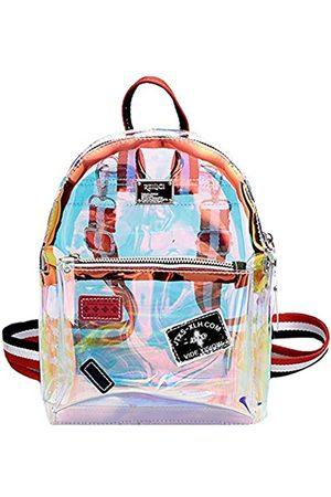 Monique Women Small Glitter Holographic Clear Jelly Backpack Daypack Convertible Shoulder Bag Cross-body Bag Handbag