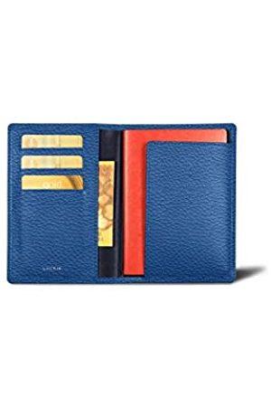 Lucrin Reisepass und Treue Kartenhalter - Königsblau - Genarbtes Leder